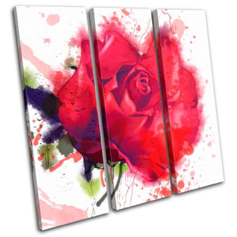 Red Roses Watercolour Floral - 13-0523(00B)-TR11-LO